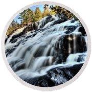 Northern Michigan Up Waterfalls Bond Falls Round Beach Towel
