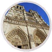 Notre Dame Paris Round Beach Towel