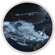 November Creek 1 Round Beach Towel