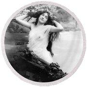 Nude Model, 1903 Round Beach Towel