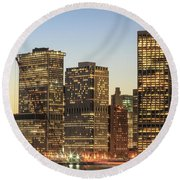Ny Downtown Round Beach Towel