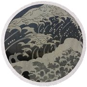 Ocean Birds Round Beach Towel