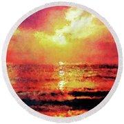 Ocean Sunrise Round Beach Towel