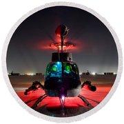 Oh-58d Kiowa Pilots Run Round Beach Towel
