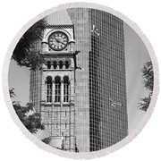 Old City Hall Round Beach Towel