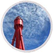 Old Lighthouse Round Beach Towel