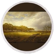 Old Orchard At Newport Round Beach Towel