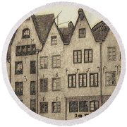 Old Town Of Cologne Round Beach Towel