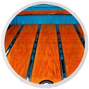 Old Truck Bed Round Beach Towel