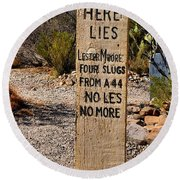 Old Tucson Graveyard Round Beach Towel