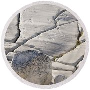Olmstead Rock And Cracks 2 Round Beach Towel