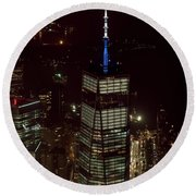 One World Trade Center In New York City  Round Beach Towel