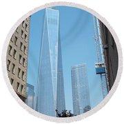 One World Trade Center 4 Round Beach Towel
