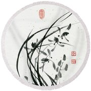Orchid - 31 Round Beach Towel
