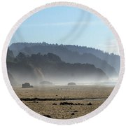 Oregon Coast 8 Round Beach Towel