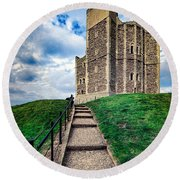Orford Castle Round Beach Towel