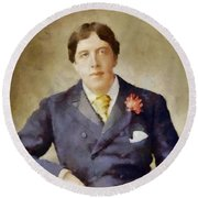 Oscar Wilde, Literary Legend Round Beach Towel