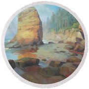 Otter Rock Beach Round Beach Towel