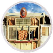 Outpost Round Beach Towel
