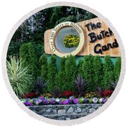 Over 100 Yrs In Bloom, Historic Garden Icon, The Butchart Gardens. Round Beach Towel