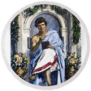 Ovid (43 B.c.-c17 A.d.) Round Beach Towel