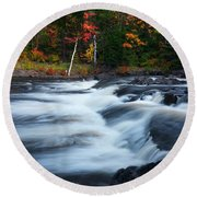 Oxtongue River Ontario Autumn Scenery Round Beach Towel