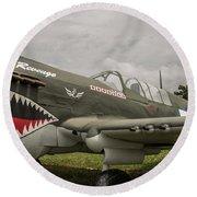 P - 40 Warhawk Round Beach Towel