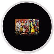 Pakistani Wedding Round Beach Towel