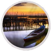 Palaffite Port Round Beach Towel
