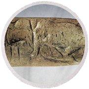 Paleolithic Tool Round Beach Towel