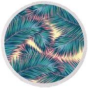 Palm Trees  Round Beach Towel by Mark Ashkenazi