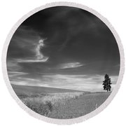 Palouse Farms Round Beach Towel
