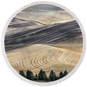 Palouse Field 2740 Round Beach Towel