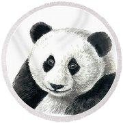 Panda Bear Round Beach Towel