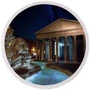 Pantheon Rome Round Beach Towel