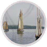Parade Of Sails Round Beach Towel