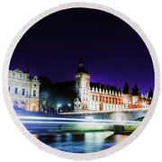 Paris At Night 15 Art  Round Beach Towel