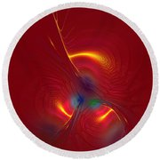 Passion In Red Round Beach Towel