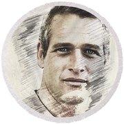 Paul Newman, Actor Round Beach Towel