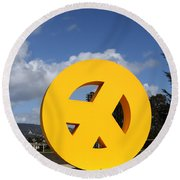 Peace From The Oakland Museum . Oakland California . 7d13411 Round Beach Towel