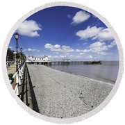 Penarth Pier 4 Round Beach Towel