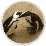 Penguins Round Beach Towel