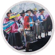 Peruvian Ladies Round Beach Towel