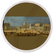 Peters Basilica Round Beach Towel