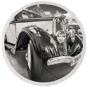 Peugeot 201  Round Beach Towel by Gary Gillette