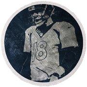 Peyton Manning Broncos Round Beach Towel