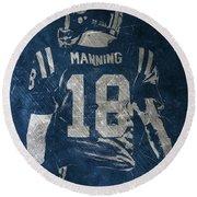 Peyton Manning Colts 2 Round Beach Towel