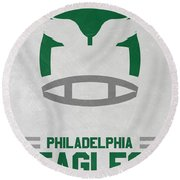 Philadelphia Eagles Vintage Art Round Beach Towel