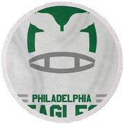 Philadelphia Eagles Vintage Art Round Beach Towel