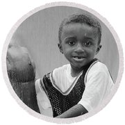 Philly Fountain Kid Round Beach Towel